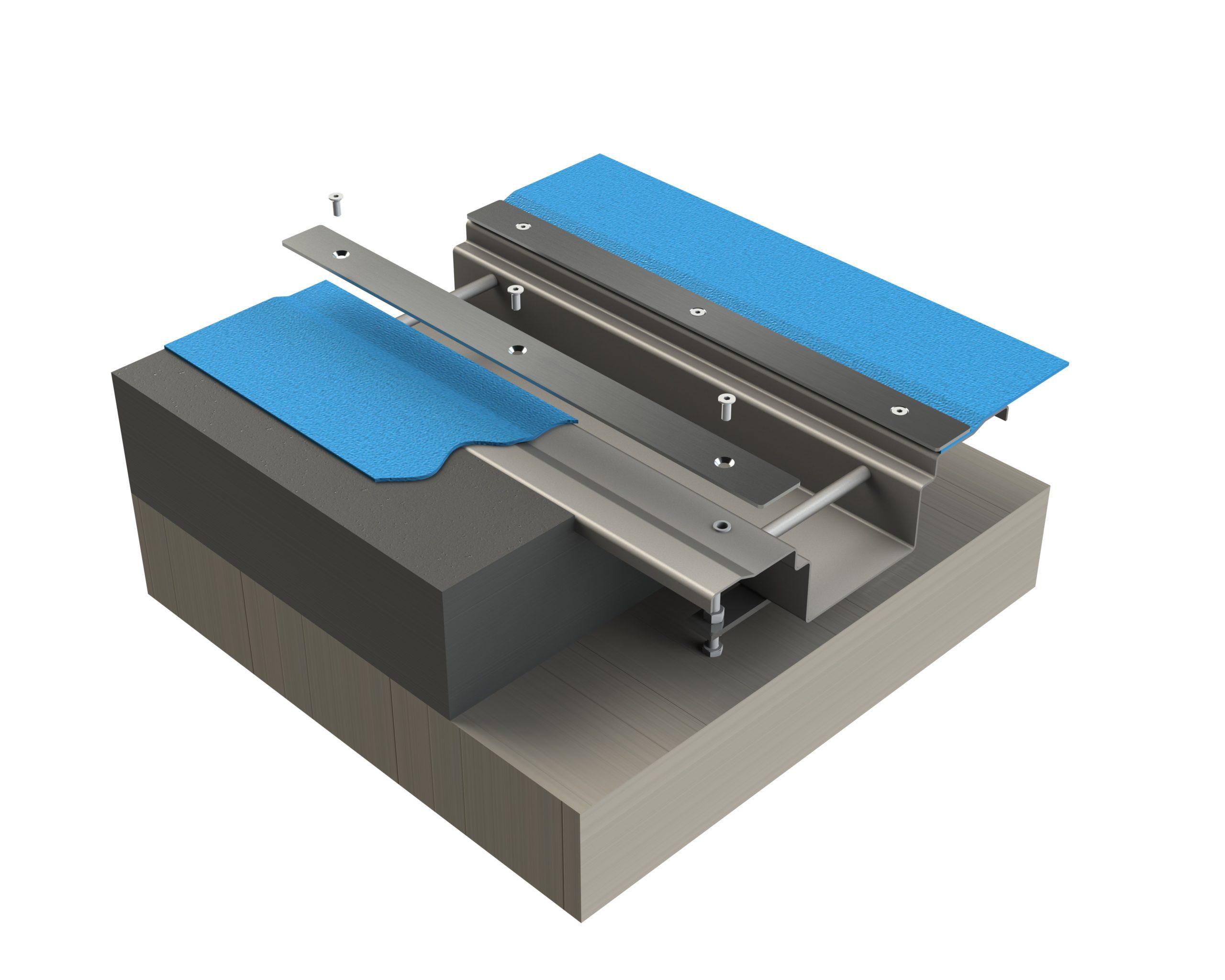 Model of Kents Vinyl box drain channel