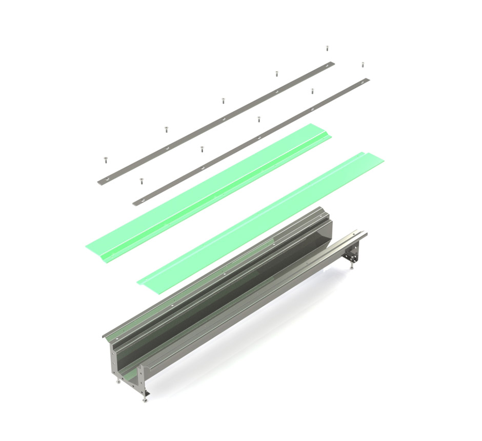Kents vinyl box drain channel and its parts