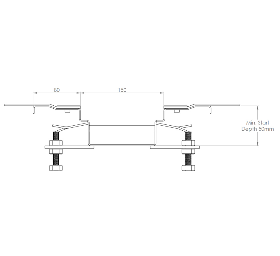 Drawing and dimensions of Kents vinyl box drain channel
