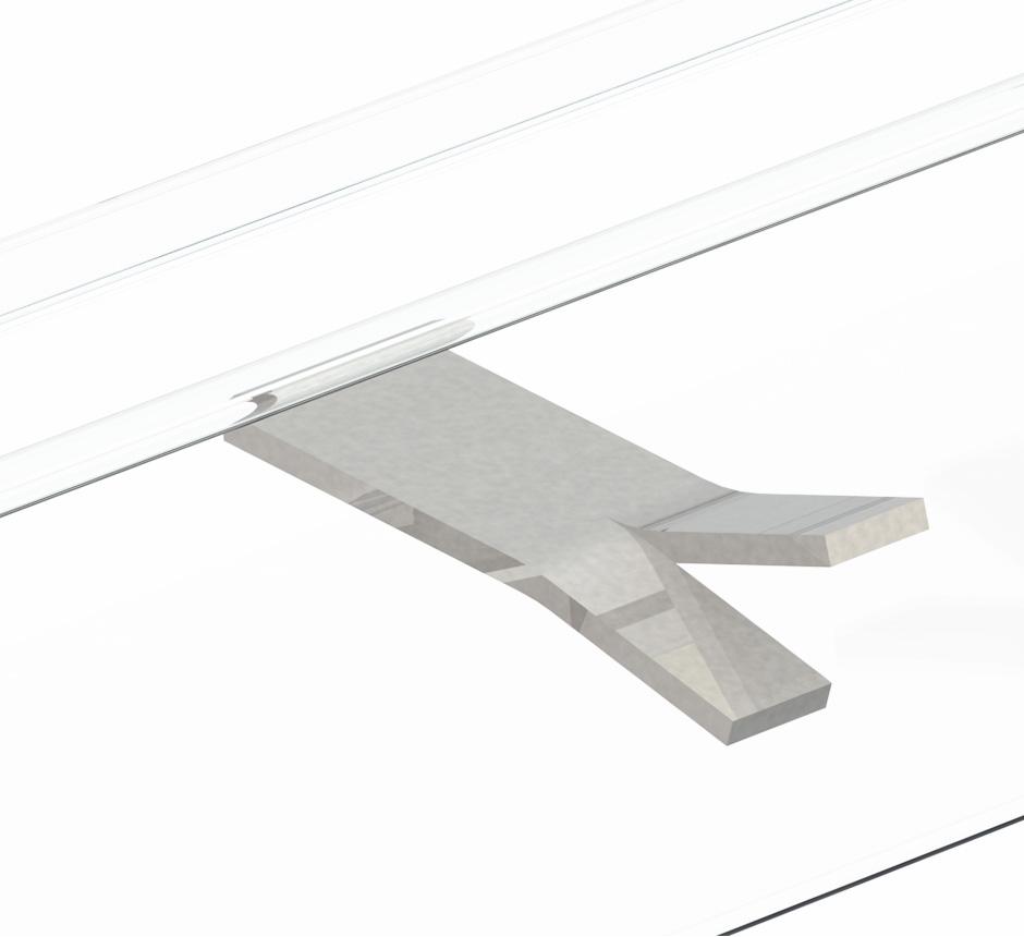CAD drawing of Kents Vinyl box drain channel