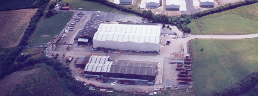 Aerial view of Kents factory