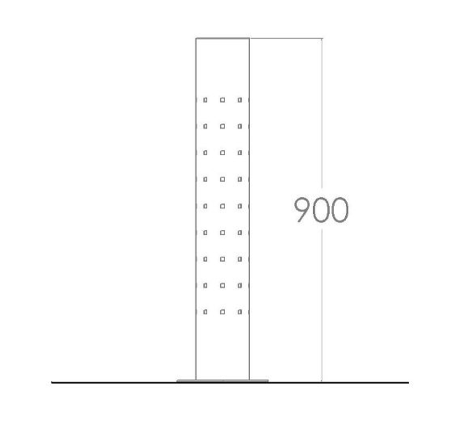 Drawing and dimensions of Kents ventilated bollard