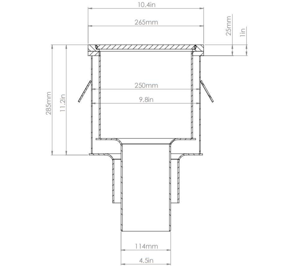 stainless-steel-double-contained-vertical-outlet-sealed-process-waste-drain
